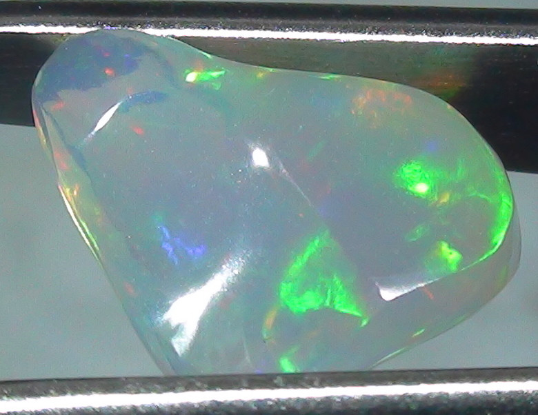 2.05 ct Ethiopian Gem Color Carved Freeform Welo Opal