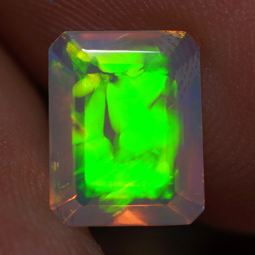 1.30 CT 9X7 MM Top Quality Faceted Cut Ethiopian Opal-ECF1