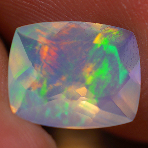 1.65 CT 10X8 MM Top Quality Faceted Cut Ethiopian Opal-ECF7