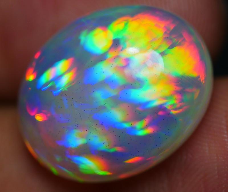 11.45 CRT RARE! AMAZING RAINBOW 3D PRISM COMPLETE COLOR WELO OPAL-