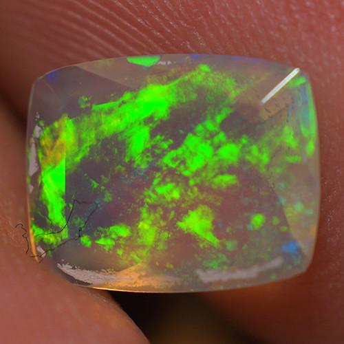 0.96 CT 9X7 MM Top Quality Faceted Cut Ethiopian Opal-ECF102