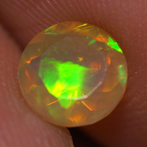 0.60 CT 6X6MM Top Quality Faceted Cut Ethiopian Opal-ECF224