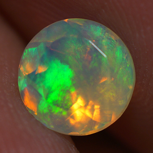 0.72 CT 6X6MM Top Quality Faceted Cut Ethiopian Opal-ECF231
