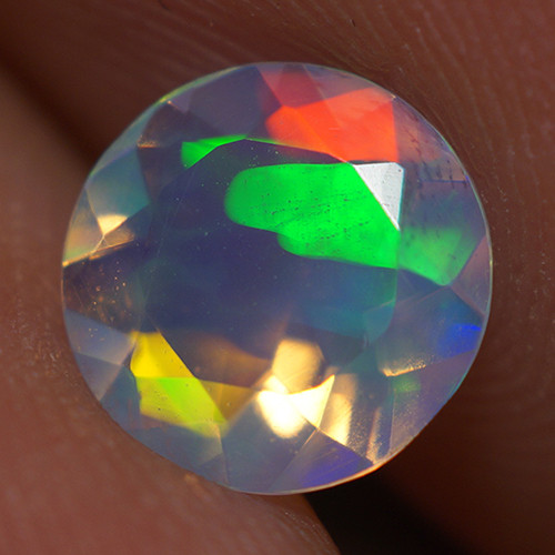 0.60 CT 7X7 MM Top Quality Faceted Cut Ethiopian Opal-ECF233