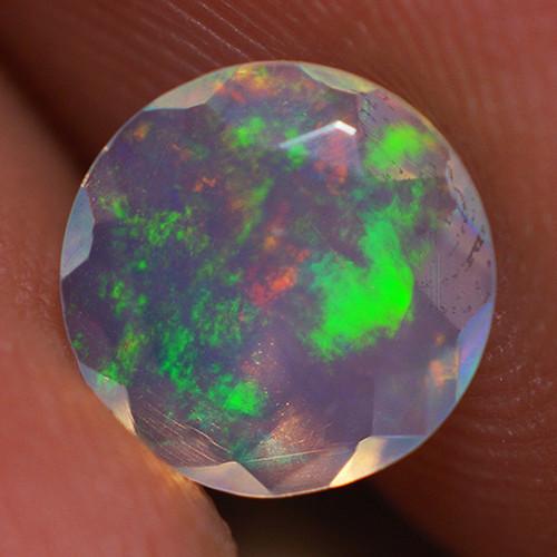 0.70 CT 7X7 MM Top Quality Faceted Cut Ethiopian Opal-ECF235