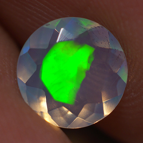 0.70 CT 7X7 MM Top Quality Faceted Cut Ethiopian Opal-ECF236
