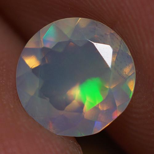 0.70 CT 7X7 MM Top Quality Faceted Cut Ethiopian Opal-ECF237