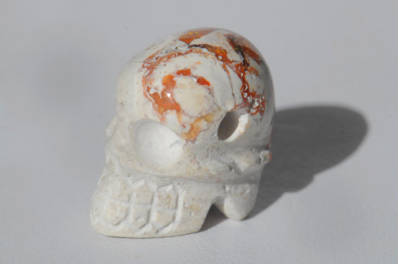 23.12ct. Mexican Matrix Cantera Multicoloured Fire Opal Pendant