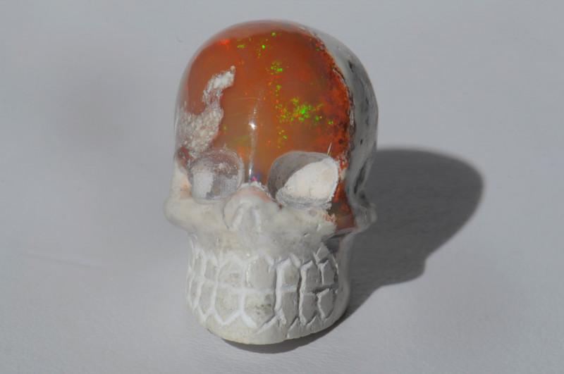 48.03ct. Mexican Matrix Cantera Multicoloured Fire Opal Pendant