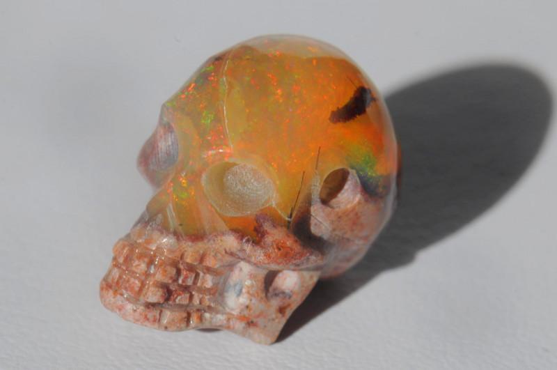 15.15ct. Mexican Matrix Cantera Multicoloured Fire Opal Pendant