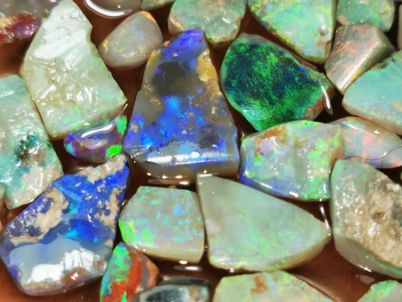 Rough Opal Lot 147.20 cts 42 pcs Black Opals Lightning Ridge BORB060619