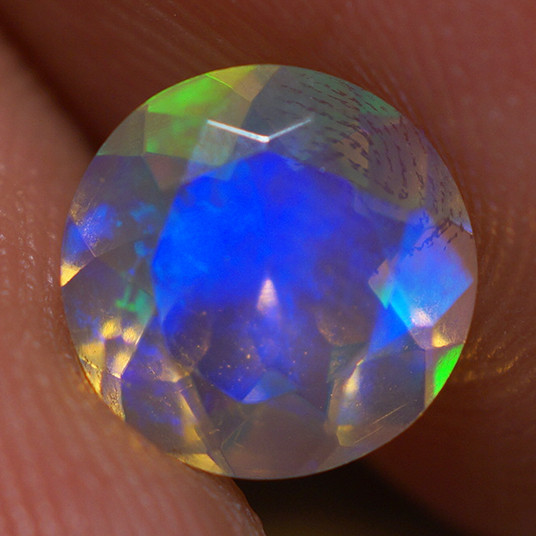 7X7 MM Top Quality Faceted Cut Ethiopian Opal-ECF252