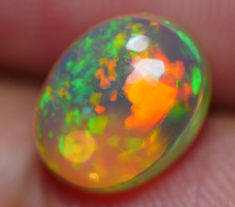 1.90 CRT BRILLIANT PIN FIRE PATTERN BEAUTY PLAY COLOR WELO OPAL