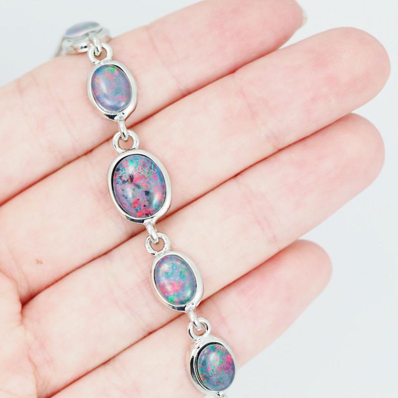 Modern Design 5pc  Oval Opal Triplet Bracelet  OPJ 2010
