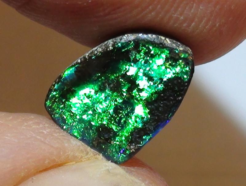 2.10 ct Solid Gem Blue Green Color Queensland Boulder Opal