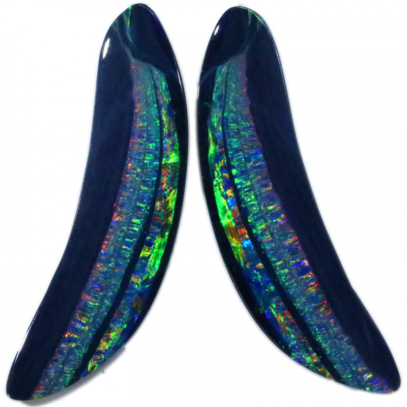 35.51 CTS DOUBLET OPAL PAIRS [SEDA2377]
