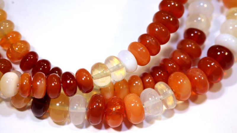 68.75 CTS MEXICAN FIRE OPAL STRANDS FOB-225