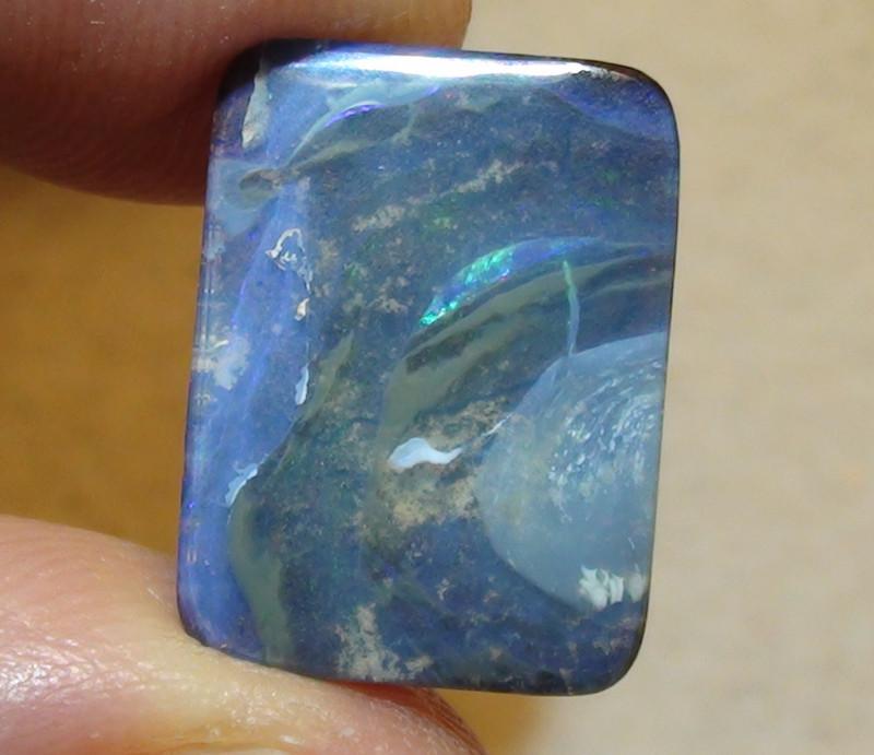 7.65 ct Blue Green Color Queensland Boulder Opal