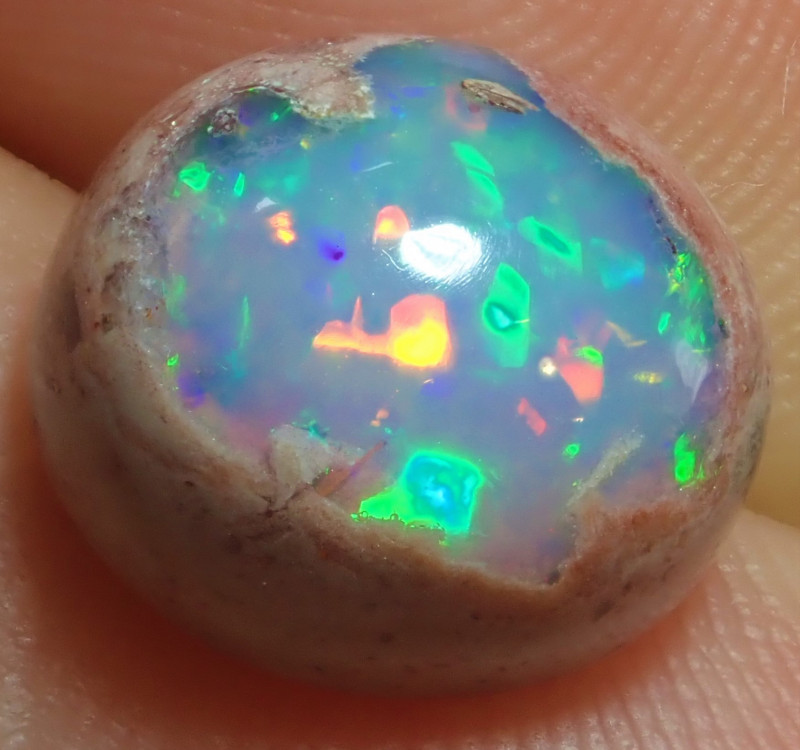4.14ct Mexican Matrix Cantera Multicoloured Fire Opal