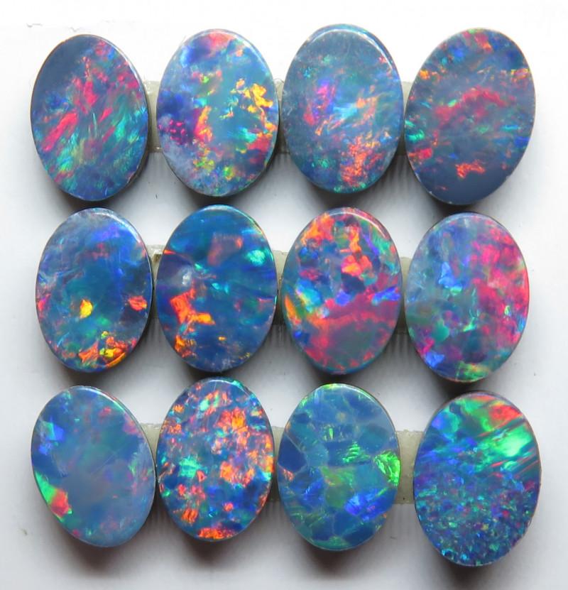 7X5mm 12 Stone Australian Doublet Opal Parcel