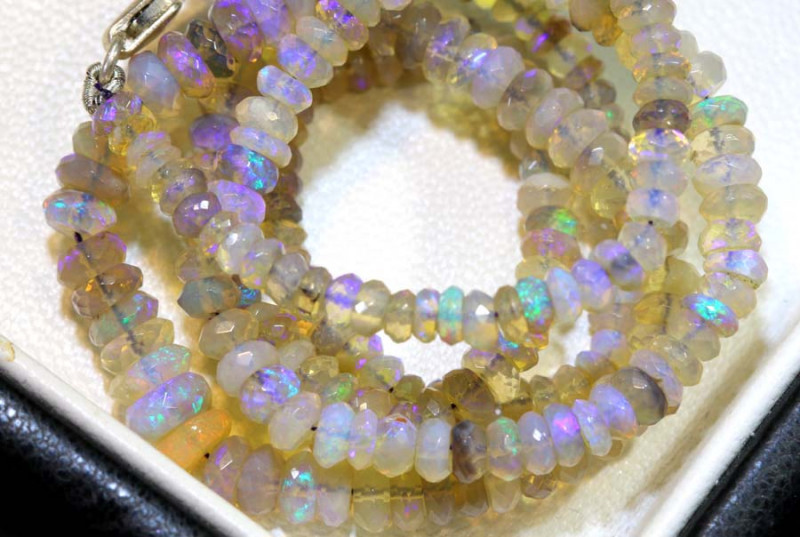 50.1 CTS CRYSTAL OPAL FACETED BEADS STRAND TBO-9227