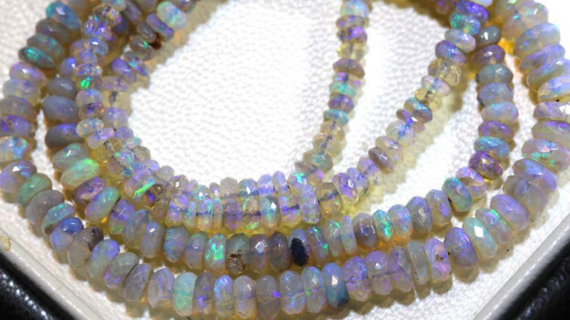 44.5 CTS CRYSTAL OPAL FACETED BEADS STRAND TBO-9228