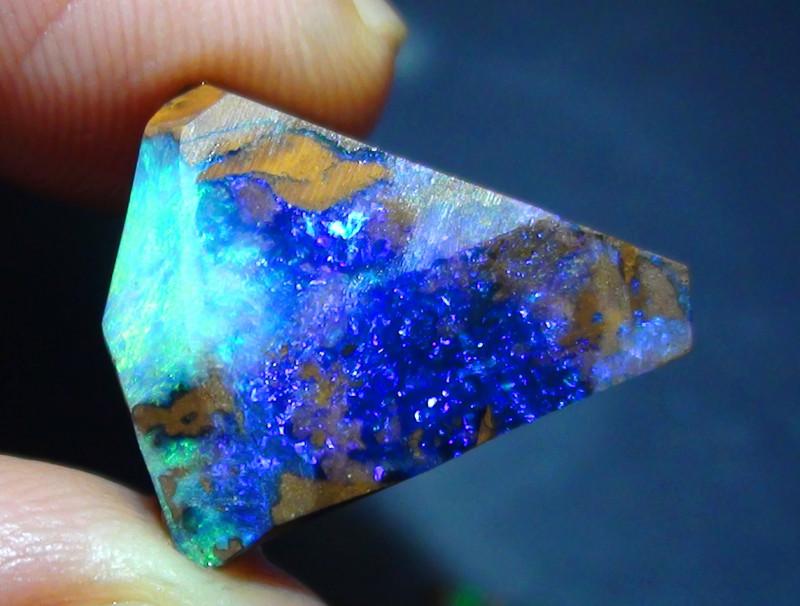 12.30 ct Gem Blue Green Solid Boulder Opal Rough Rub