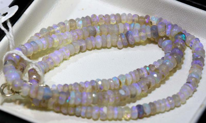 47 CTS CRYSTAL OPAL FACETED BEADS STRAND TBO-9238