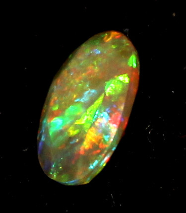 0.70 Crt Natural Ethiopian Welo Fire Faceted Smoked Opal 4