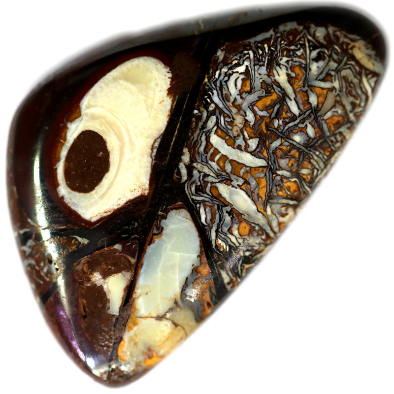 62.95 CTS CHOCOLATE IRONSTONE WITH WHITE OPAL[MS8374]A