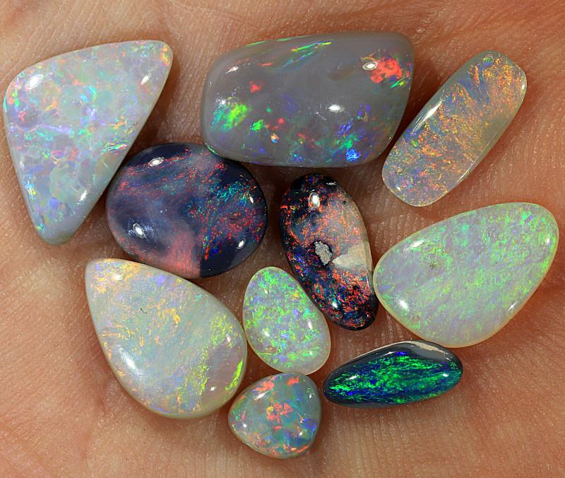 10pcs 10ct Lightning Ridge Dark Opal Parcel [LO-1645]