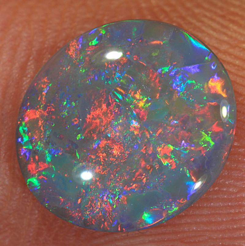 1.35ct 11x10mm Solid Lightning Ridge Dark Opal [LO-1647]