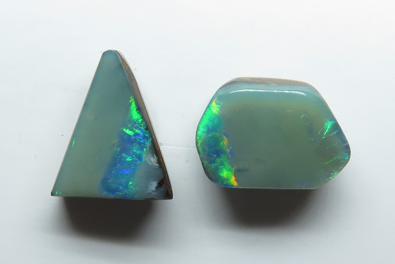 5.07ct Queensland Boulder Opal Stone Unmatched Pair