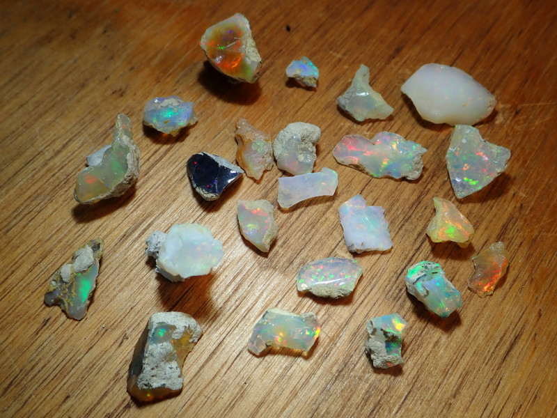54.27cts Nice Rough Opal Rough Parcel Welo Mines Ethiopia Lot