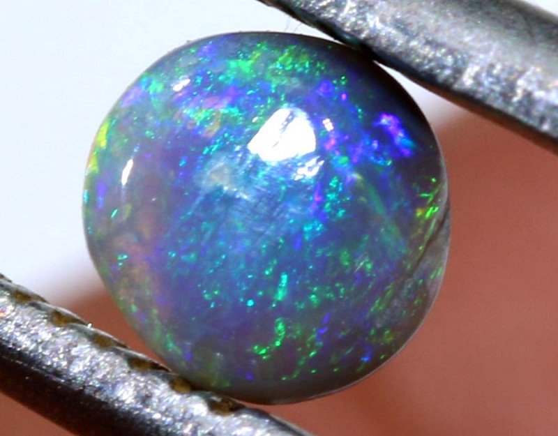 0.29 CTS  L.RIDGE DARK BASE OPAL  POLISHED STONE TBO-9479