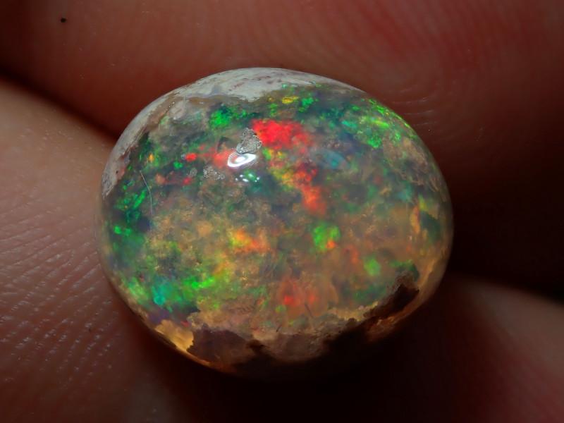 6.65ct Mexican Matrix Cantera Multicoloured Fire Opal