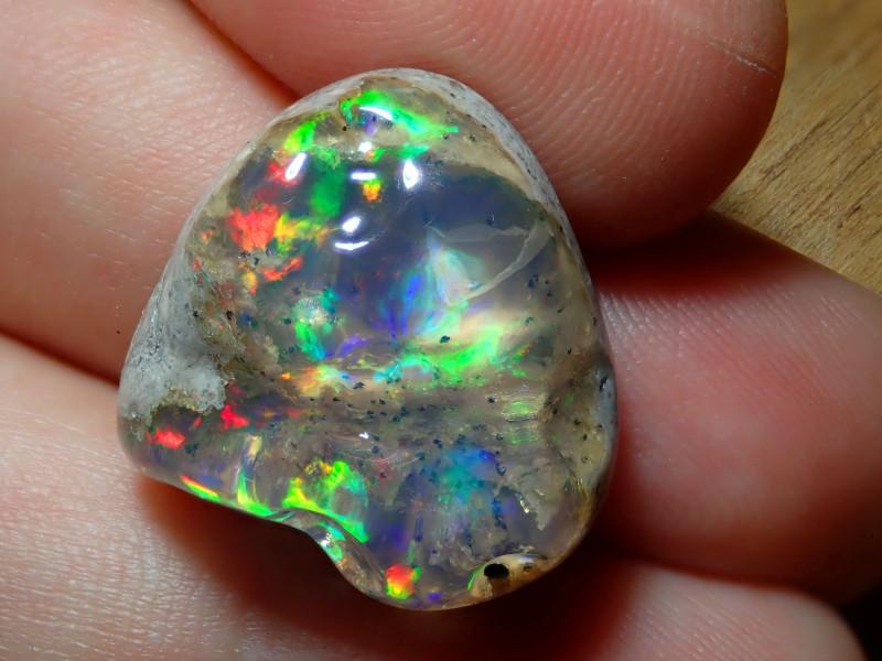 23.29ct Mexican Matrix Cantera Multicoloured Fire Opal
