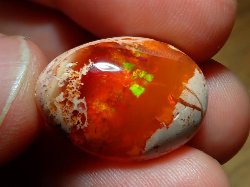 16.94ct Mexican Matrix Cantera Multicoloured Fire Opal