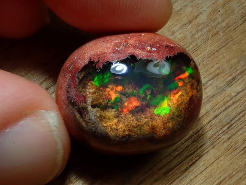 39.54ct Double Sided Mexican Matrix Cantera Multicoloured Fire Opal