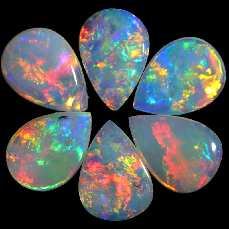 1.50 CTS CALIBRATED CRYSTAL OPAL  PARCEL FROM COOBER PEDY[SEDA2496]