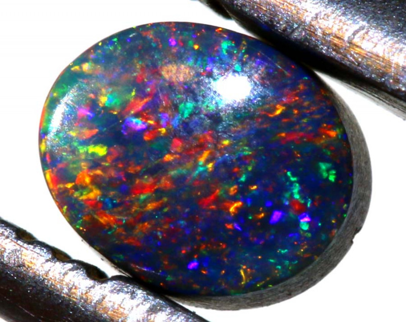 0.46 CTS  L.RIDGE BLACK OPAL  POLISHED STONE TBO-9535