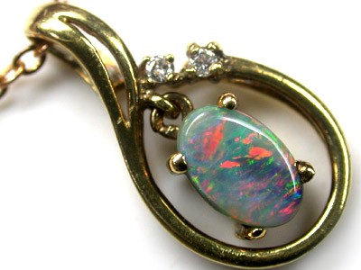 SUPERB SUNSET RED FIRE BLACK OPAL 18K PENDANT 1 CTS SCA419