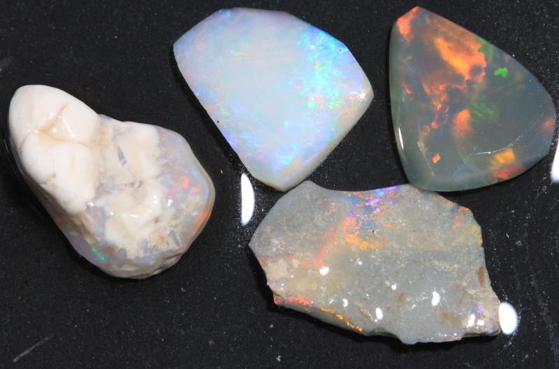 14.65ct  -2#  -   Lightning Ridge Opal Rubs  [22392]