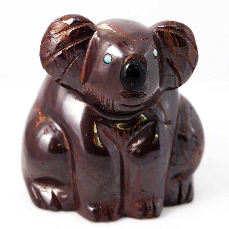 Natural  boulder ironstone Carved into Koala bear BU 2471