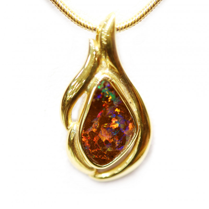 Boulder Opal 18k Gold Pendant [CP32]