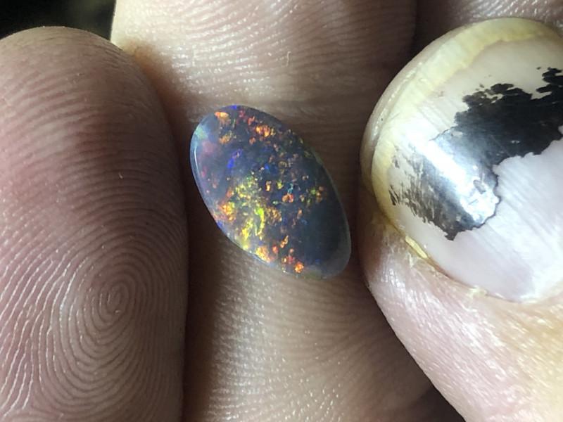 1.05ct Lightning Ridge black opal