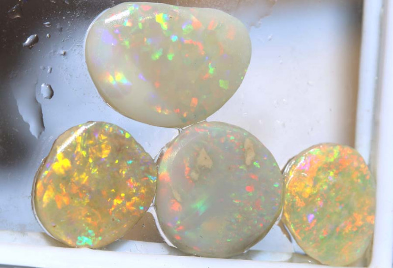 10.50 CTS COOBER PEDY WHITE OPAL RUB PARCEL  DT-8411