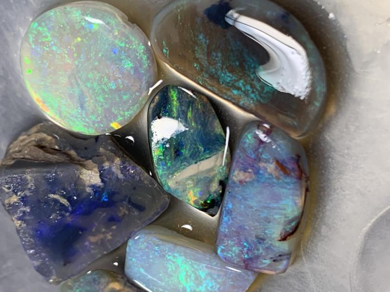 BEAUTIFUL RUBS; 28 CTs of Beautiful Solid/Natural Lightning Ridge Opal Rubs