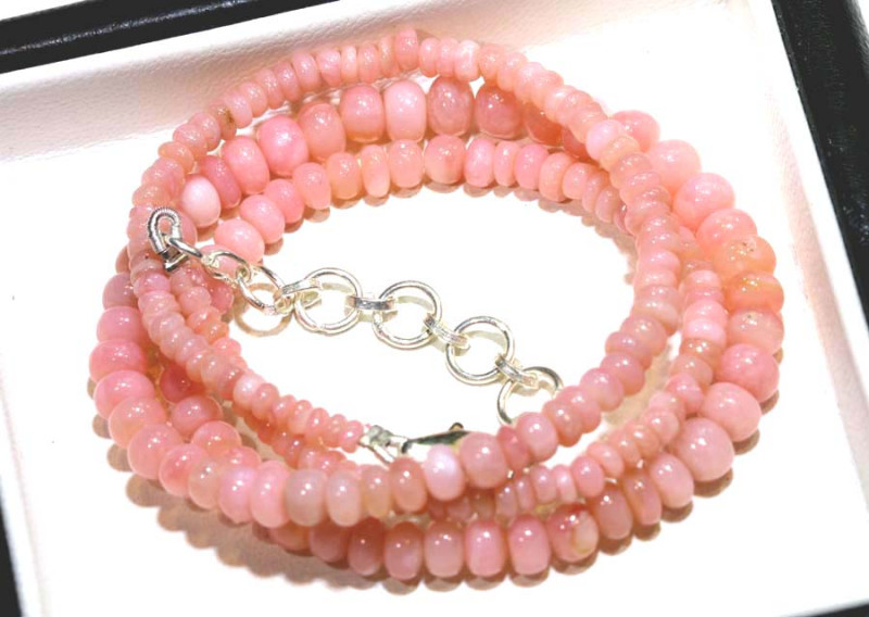 56.95 CTS - Pink Opal  Beads Strand      FOB-1891