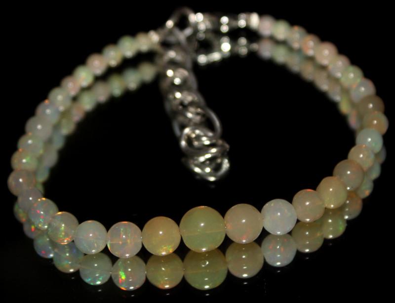 20 Crt Natural Ethiopian Welo Fire Opal Balls Bracelet 23